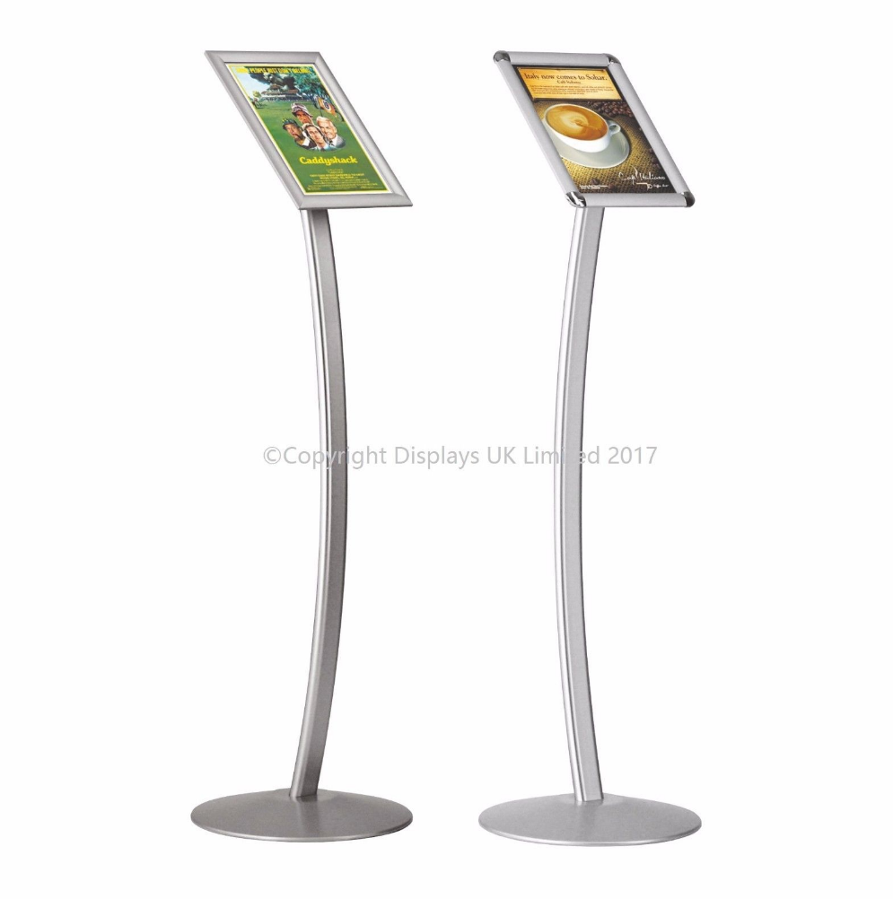 A4 Free Standing Curved Information/Poster Board
