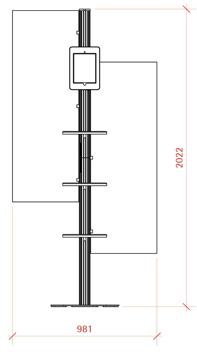iPad Display - Retail Combination 4 - Eurostand