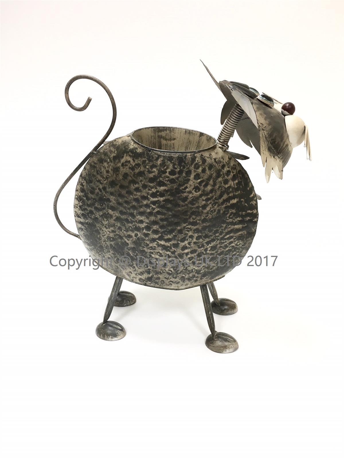 Metal Cat Planter
