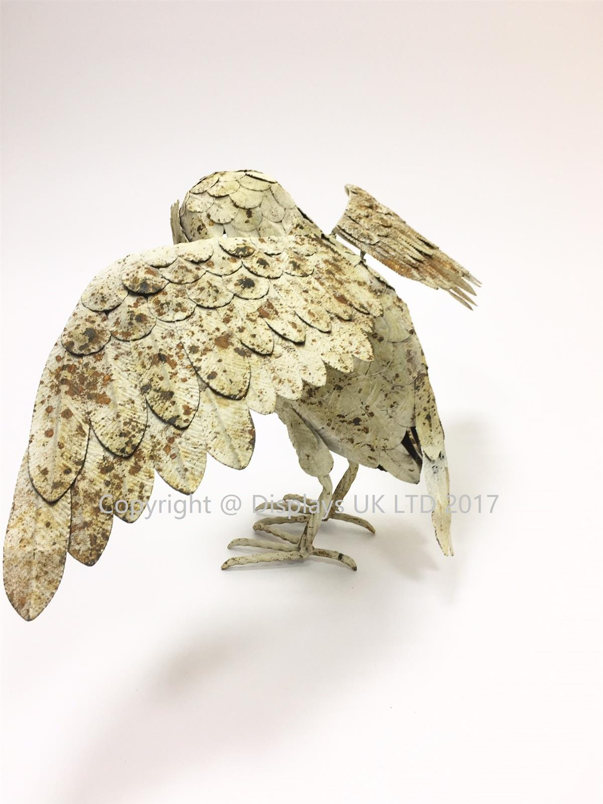 Flying Owl Metal Garden Ornament