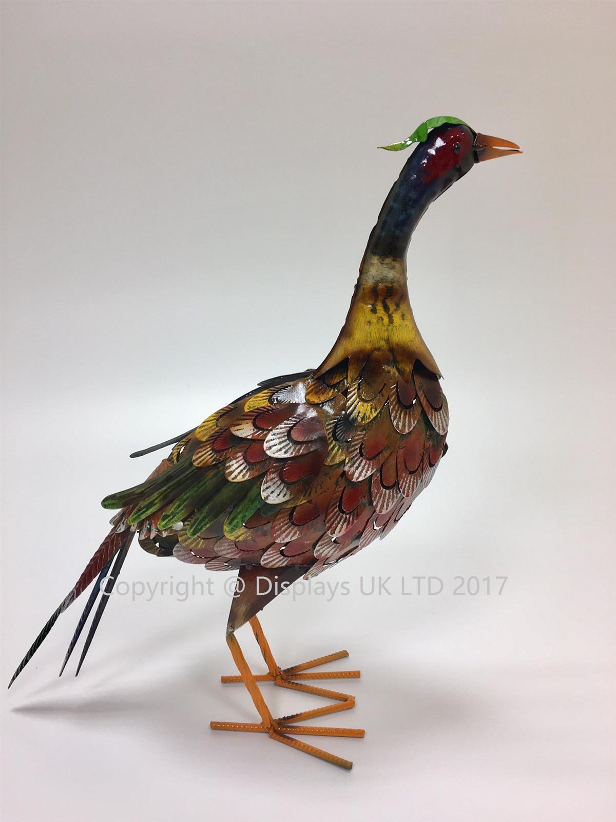 Metal Pheasant Garden Ornament