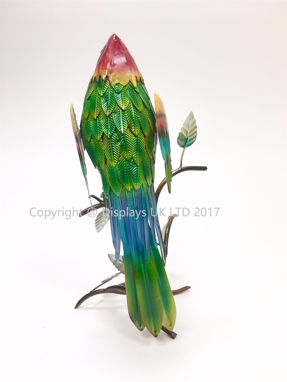 Metal Macaw Garden Ornament