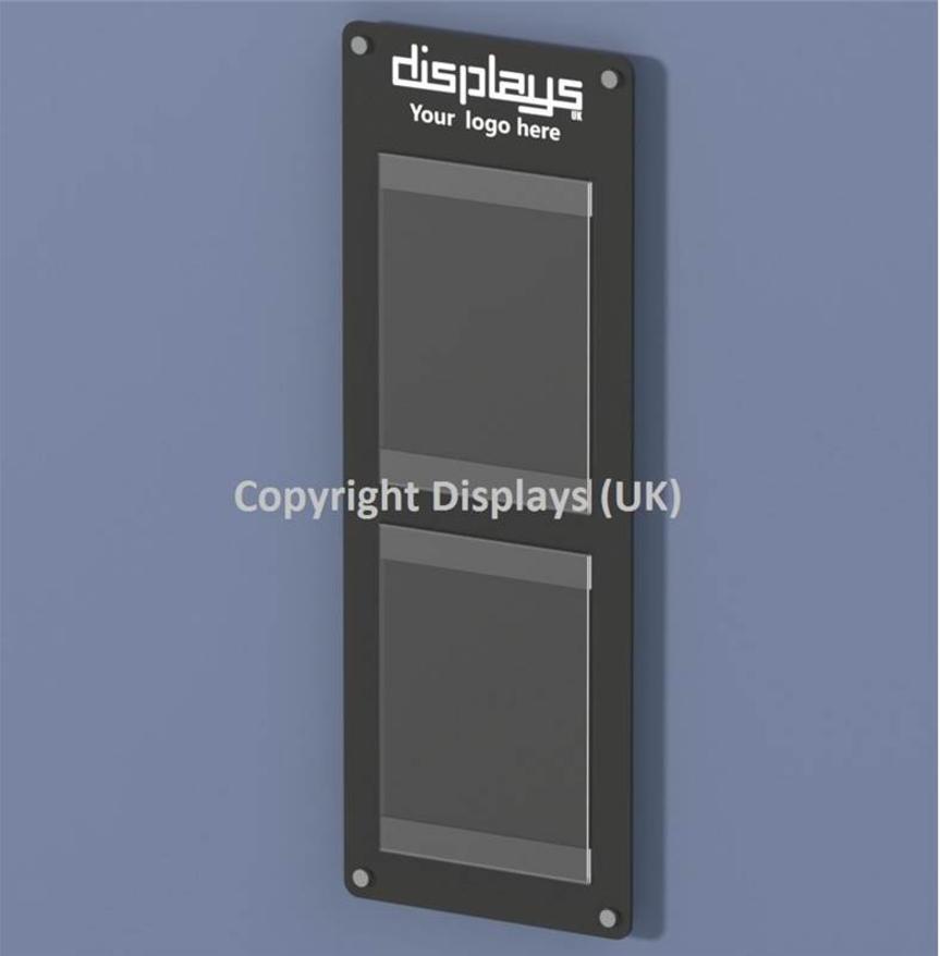 Informer Acrylic 2 x A4 Wall Mounted Noticeboard