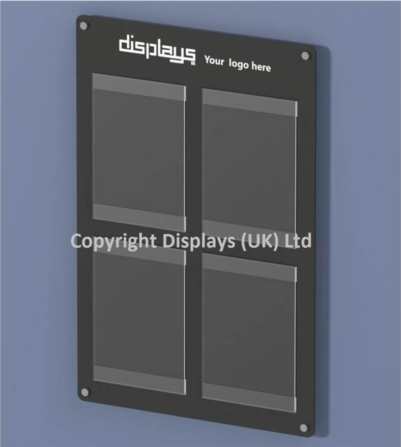 Informer Acrylic 4 x A4 Wall Mounted Noticeboard