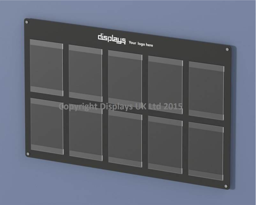 Informer Acrylic 10 x A4 Wall Mounted Noticeboard