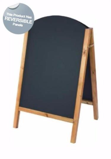 Harrier Curved Top A-Frame Chalkboard - Reversible