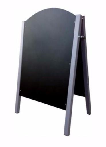 Meteor Steel Leg Curved Top A-Frame Chalkboard