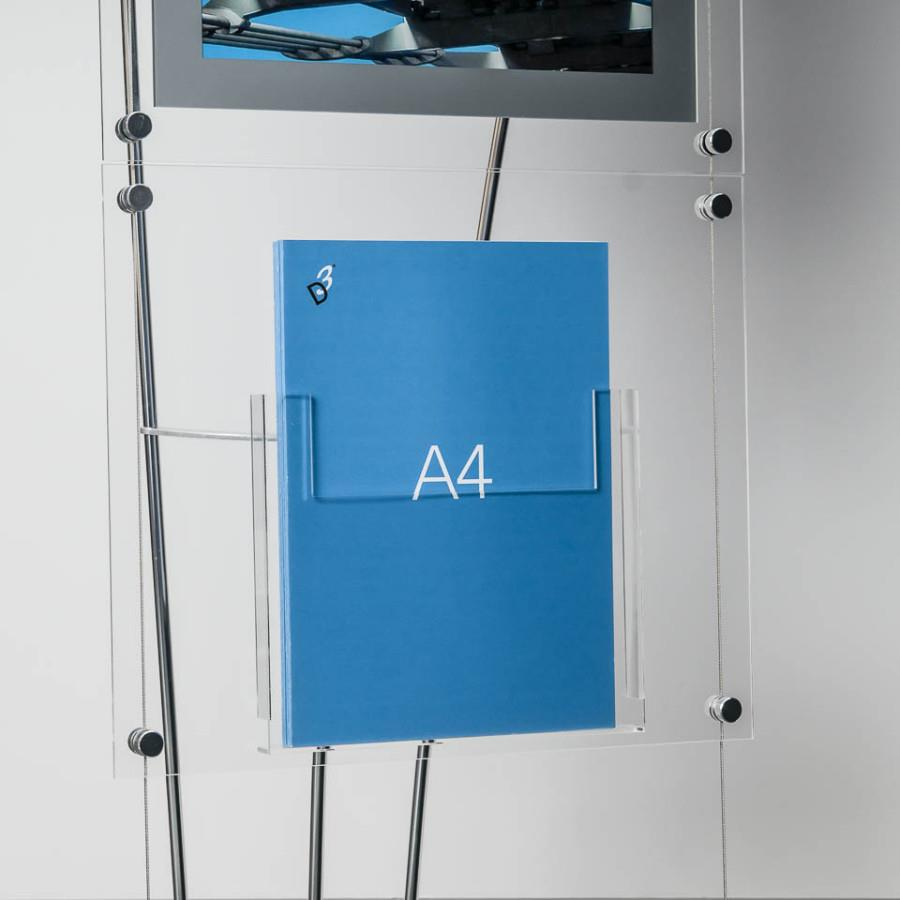 D3 Premium Perspex Acrylic Freestanding A4 Leaflet Holder - A4