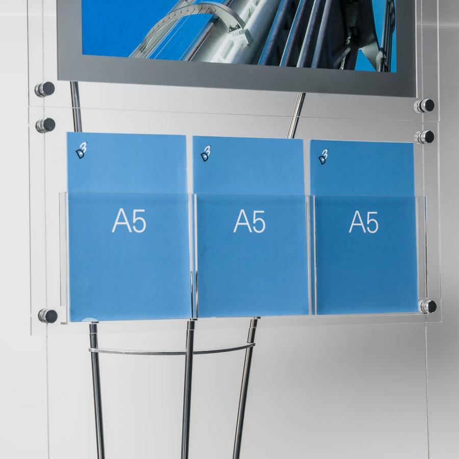 D3 Premium Perspex Acrylic Freestanding A5 Leaflet Holder