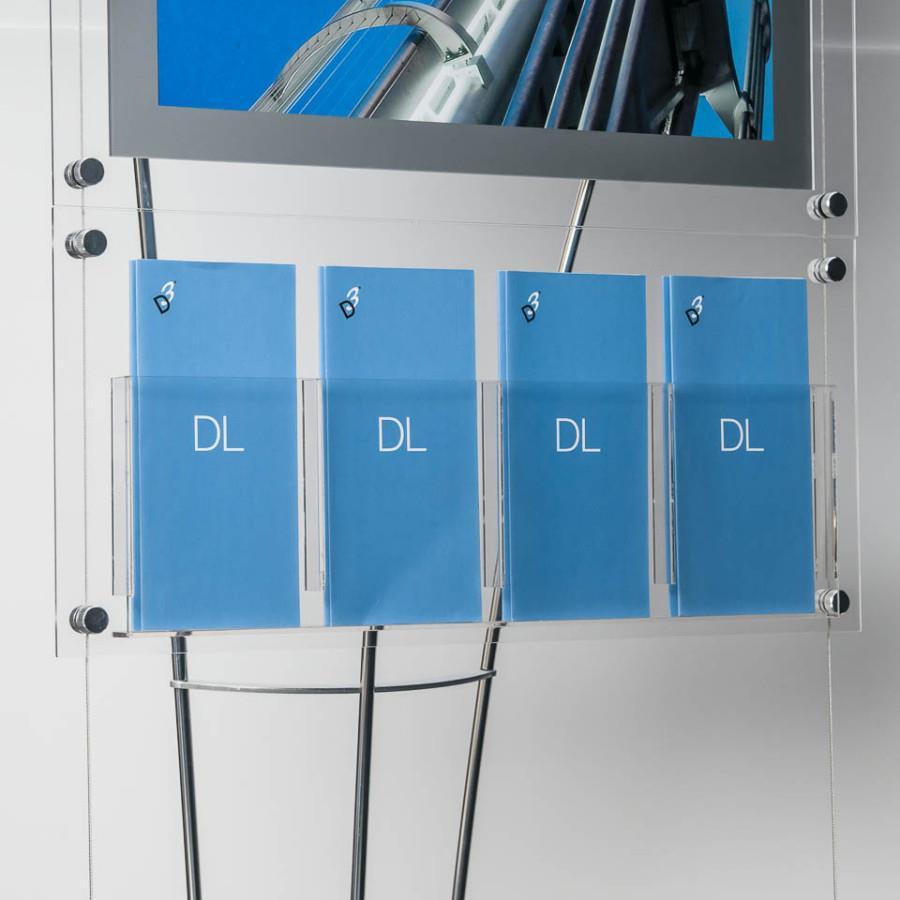 D3 Premium Perspex Acrylic DL (1/3 A4) Leaflet Holder