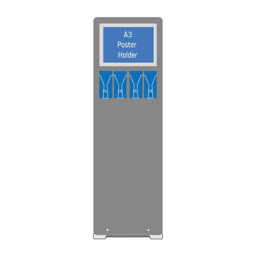 Combination Display - A3 Poster and Leaflet Display - Landscape