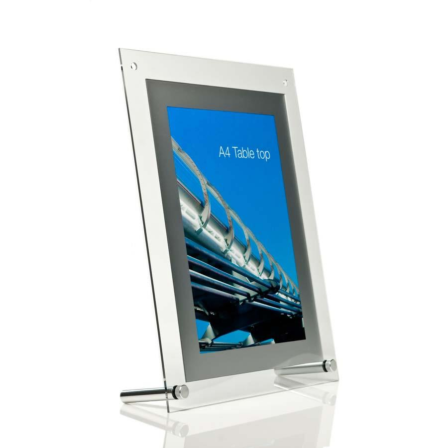 Perspex Acrylic Poster Frame - Table Top - A3 and A4
