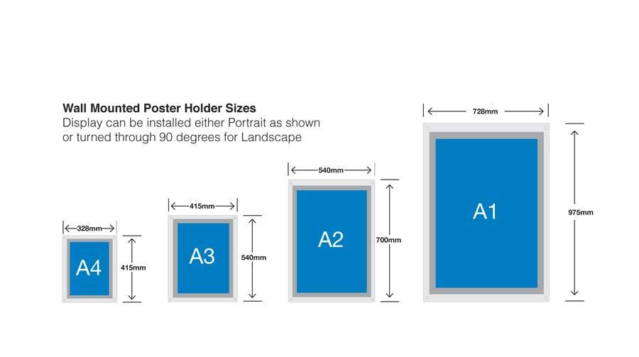Perspex Acrylic Poster Frames - Wall Mounted