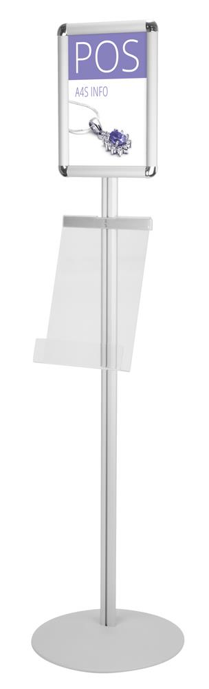 A4 Snap Frame Poster and Leaflet Information Display Stand