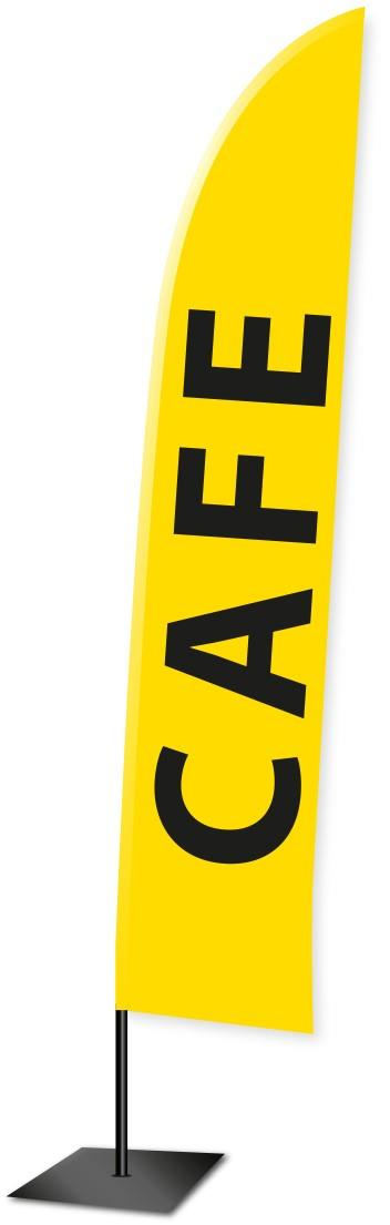 Printed Feather Flag Banner - 'CAFE'