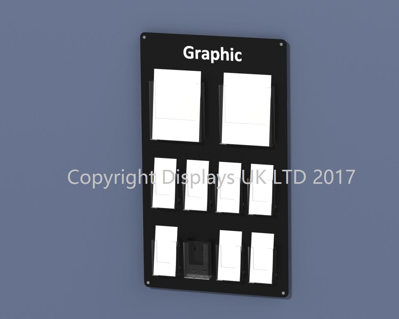 Vision A4 & DL (1/3 A4) Multi Pocket Leaflet Display
