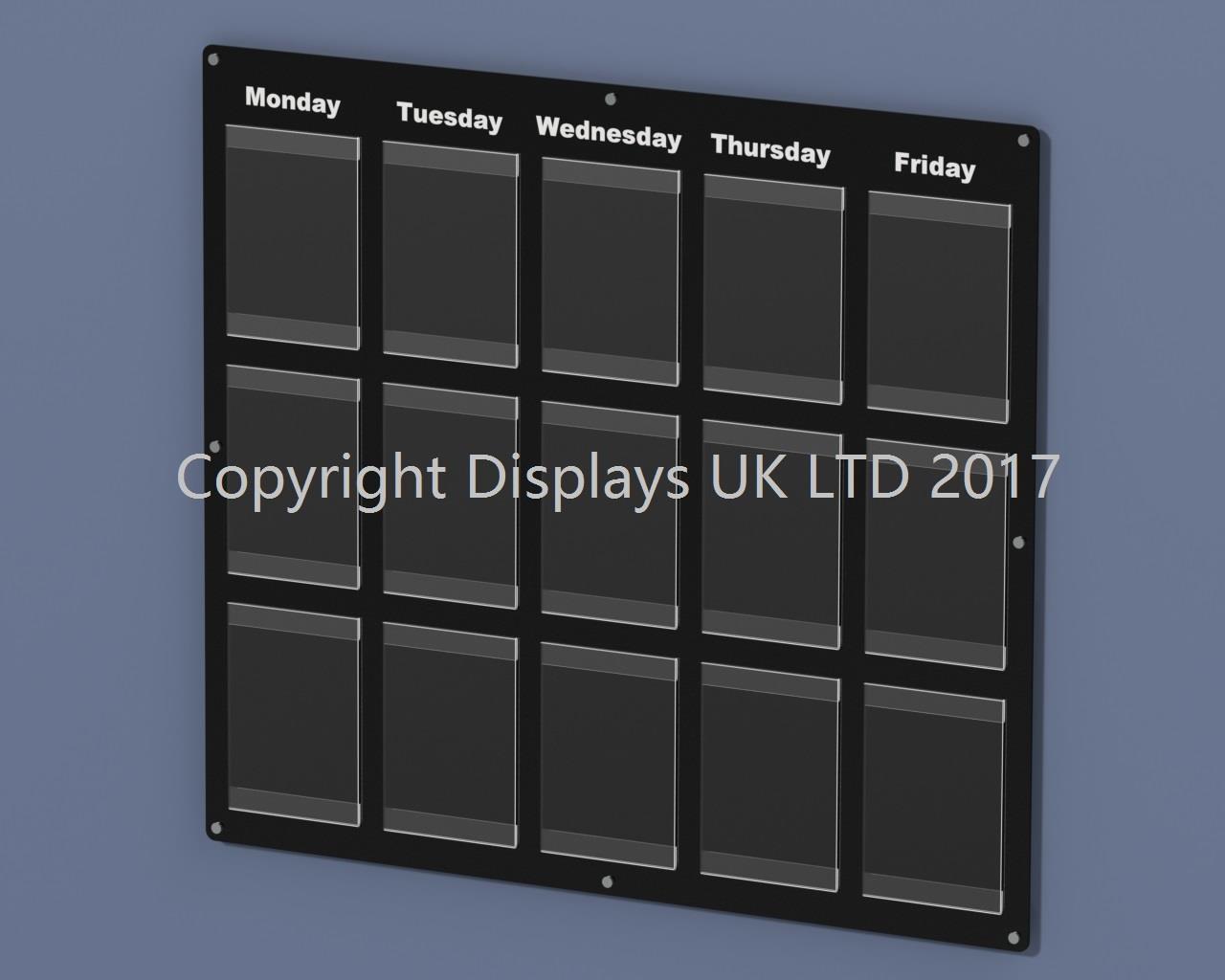 Informer 5 Day Noticeboard - 15 x A4 Pockets