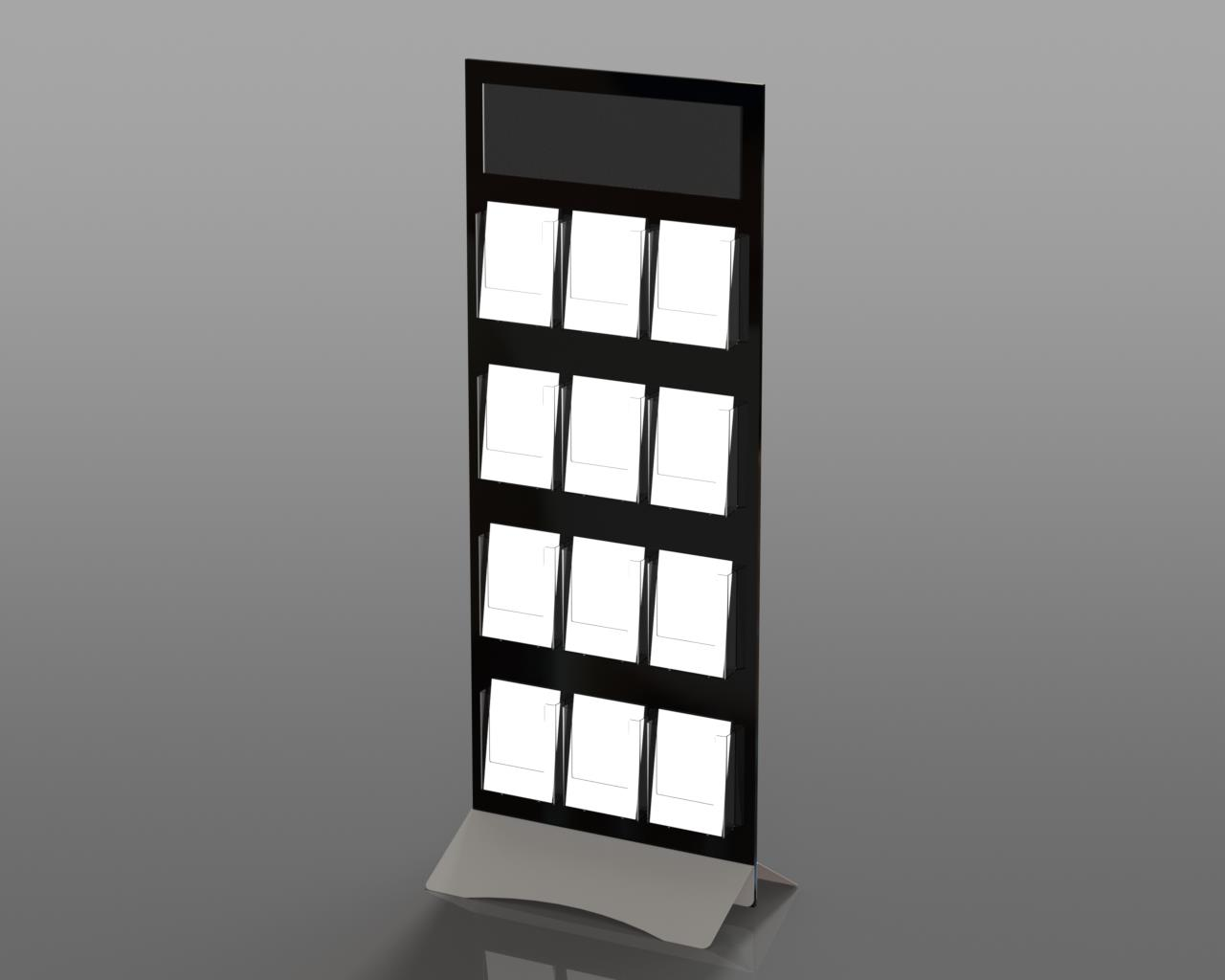 Freestanding Rigid Board Perspex Acrylic Leaflet Holders