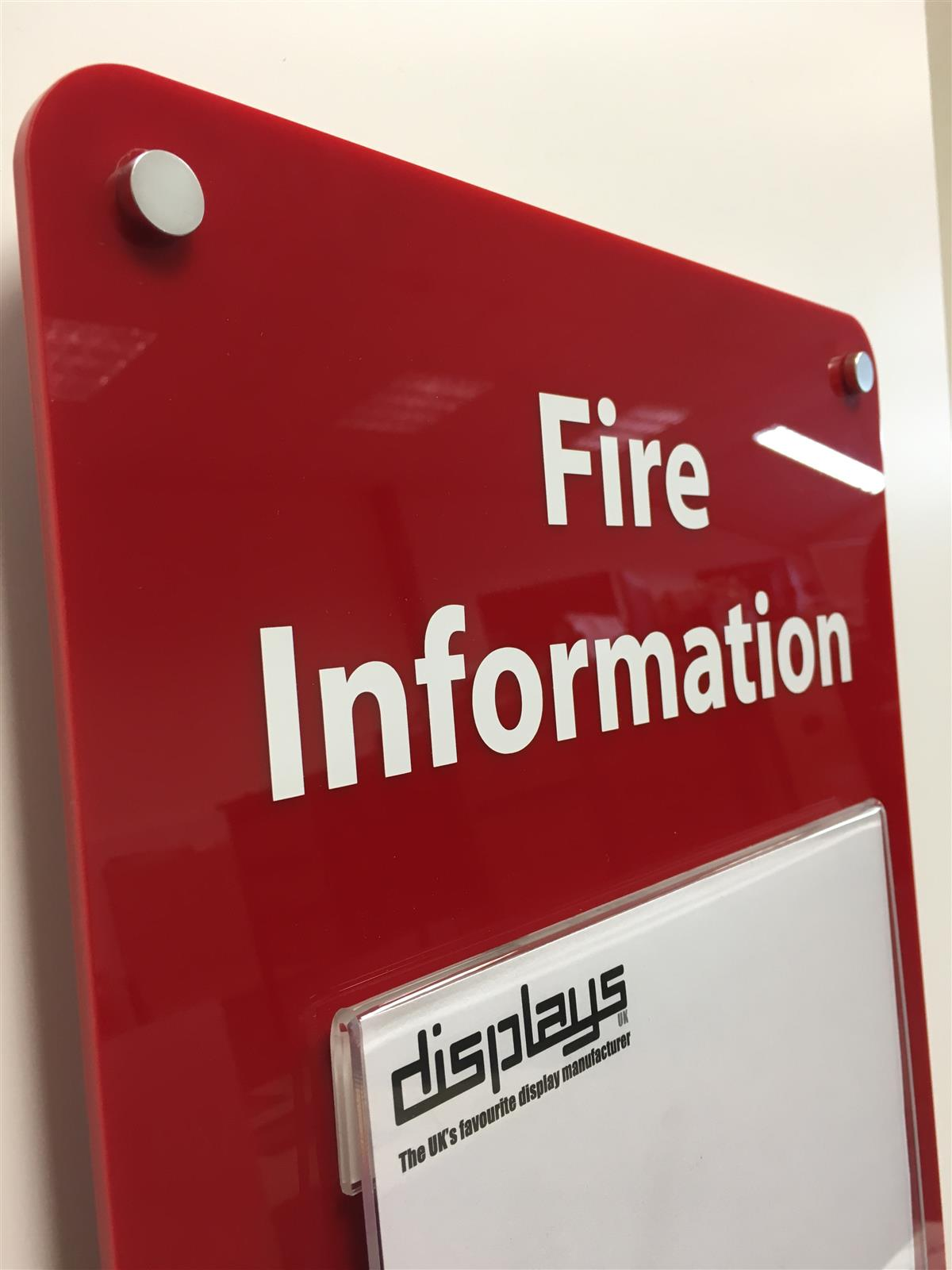 Fire Certificate Holder - Wall Mounted Sign