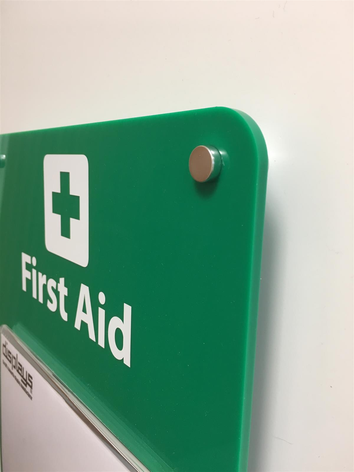 First Aid Certificate Holder- Wall Mounted Sign