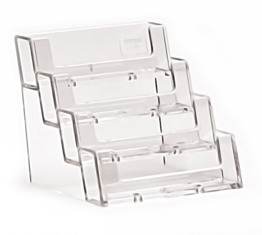 4 Tiered/Stepped Landscape Business Card Holder