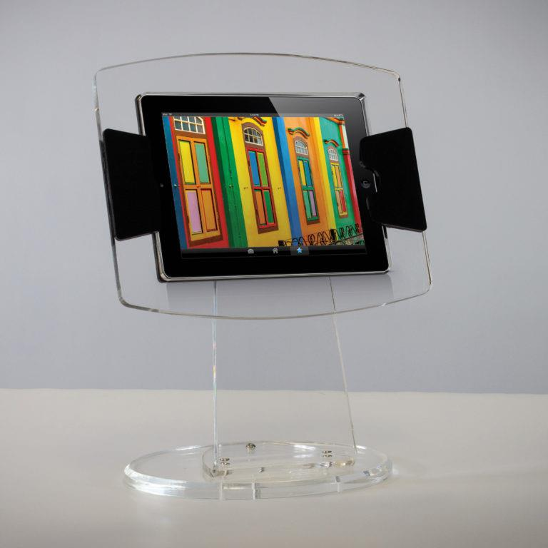 Crystal Perspex Acrylic Table Top Tablet Stand