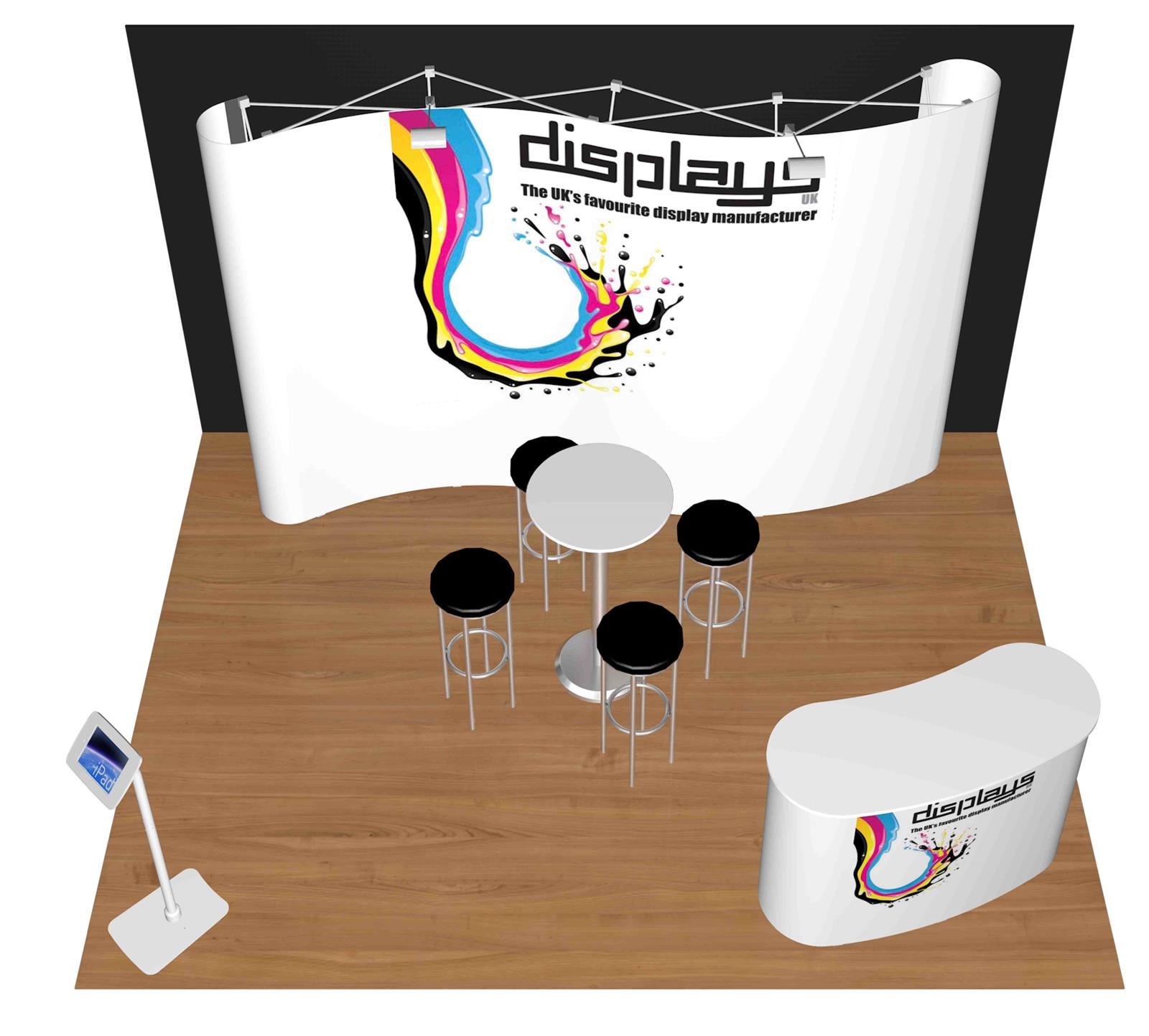 3m x 3m Linked Pop Up Exhibition Stand - Kit 10