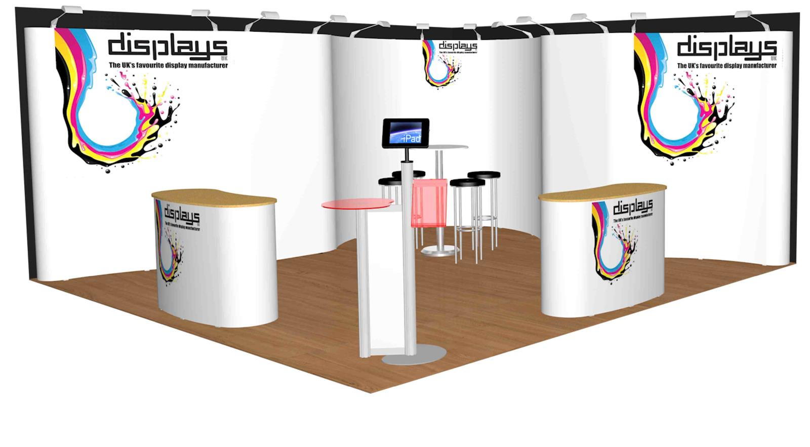 5m x 5m Linked Pop Up Exhibition Display Stand - Kit 27