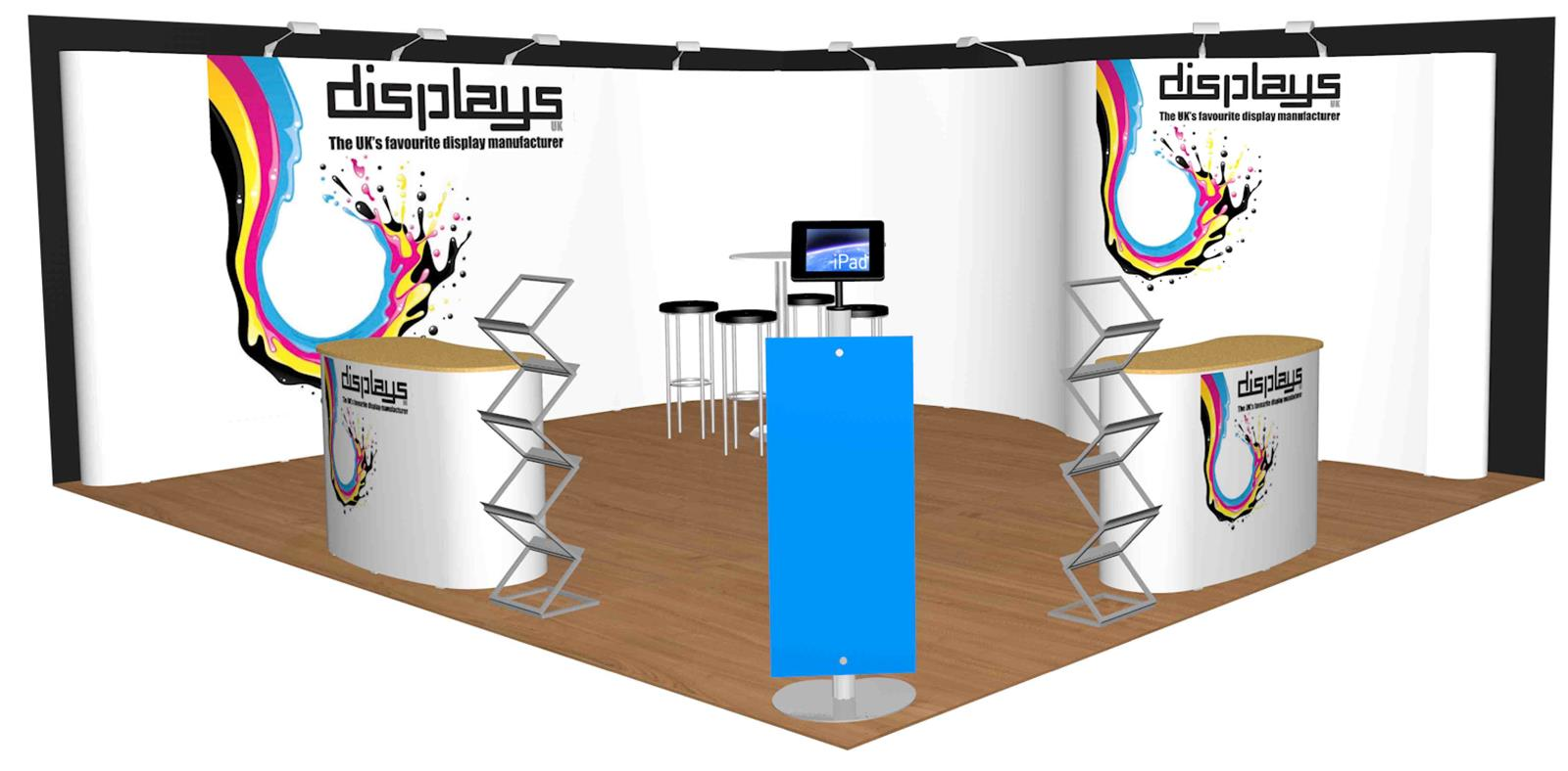 5m x 6m Linked Pop Up Exhibition Display Stand - Kit 41