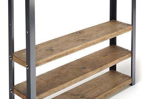 Wooden Shelving Display Unit - 1m Wide