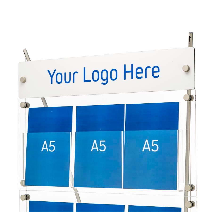 D3 Premium Leaflet Displays - Printed Header Panel