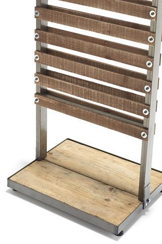2 Sided Gift Floor Stand with Wooden Slats