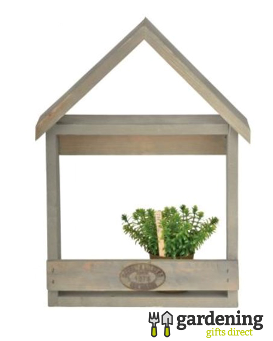 Garden Wall Mounted Wooden Planter House - Medium
