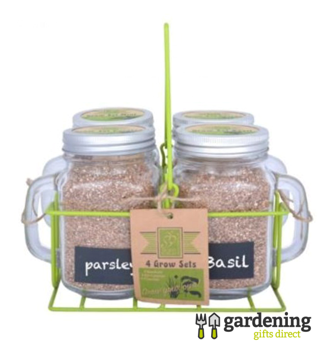 4 Garden Mug Grow Your Own Herbs Gift Sets In Carrier