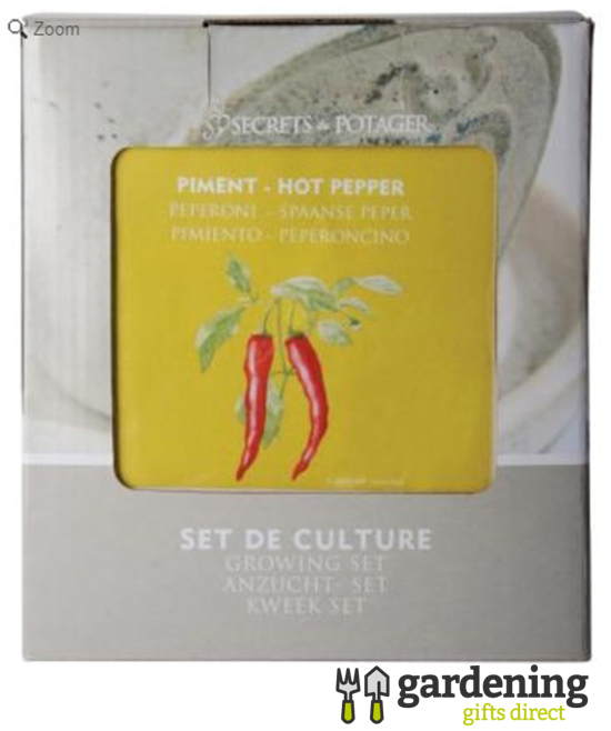 Hot Pepper Grow Your Own Kit - Seeds, Planting Pot and Soil