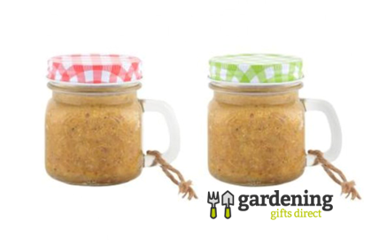 Peanut Butter Garden Mug Bird Feeder