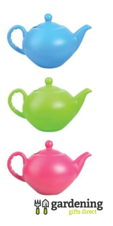 Large Teapot Watering Cans - Blue, Green or Pink
