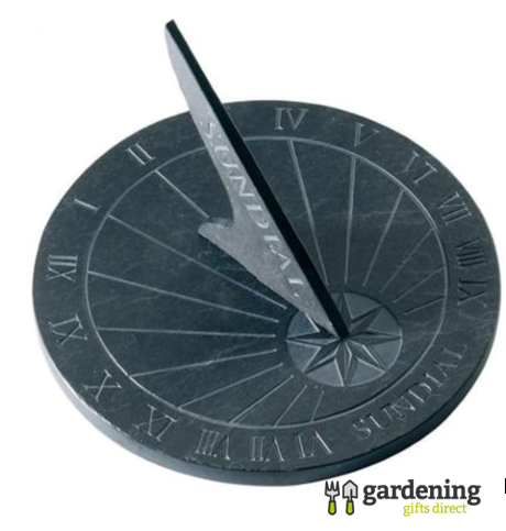 Round Slate Sundial Garden Ornament