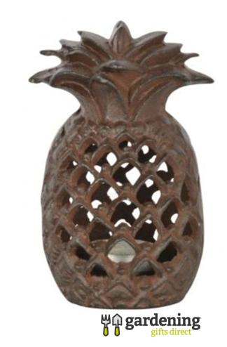 Cast Iron Pineapple Tealight Garden Lantern