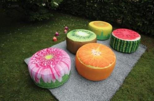 Outdoor Watermelon Print Garden Pouffe Footrest/Seat