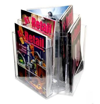 6 Pocket A4 and/or DL Clear Desktop Leaflet Carousel