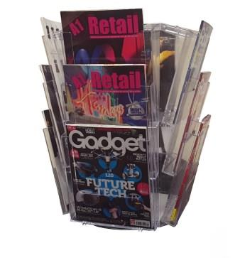12 Pocket A4 and/or DL Desktop Leaflet Carousel