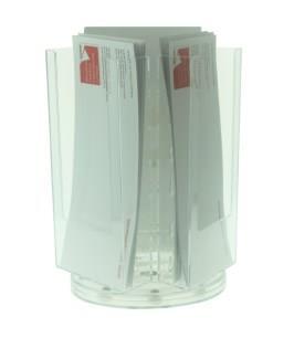 3 Pocket DL (1/3 A4) Rotating Desktop Leaflet Dispenser