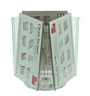 3 Pocket A5 Rotating Desktop Leaflet Dispenser