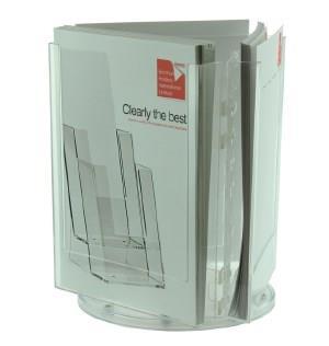 3 Pocket A4 Rotating Desktop Leaflet Dispenser