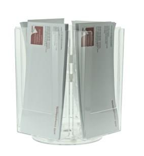 4 Pocket DL (1/3 A4) Desktop Rotating Leaflet Dispenser