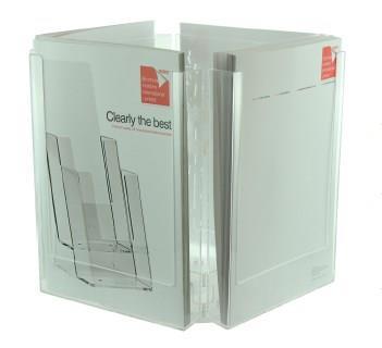 4 Pocket A4 Desktop Rotating Leaflet Dispenser