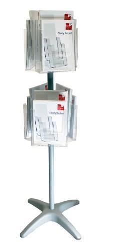 12 Pocket A4 and/or DL Floor Standing Rotating Leaflet Dispenser