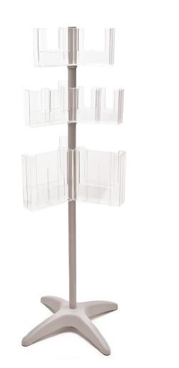 Mix and Match Rotating Leaflet Dispenser - 3 Tiers