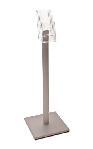 Luxury Leaflet Floor Stand - 3 x DL Tiered Pockets